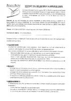 Compte rendu conseil municipal du 6-01-2021