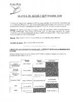 Compte-rendu du 3 Septembre 2020